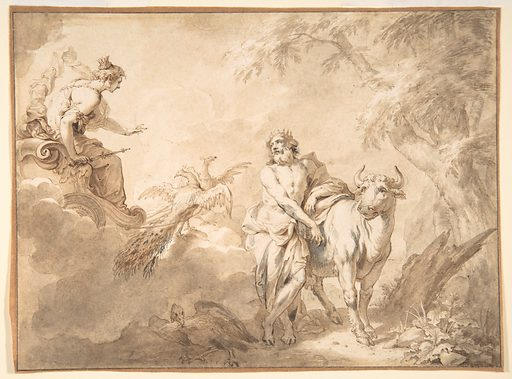 Illustrations to the Metamorphoses of Ovid: Jupiter and Io (.1); Jupiter and Io, disguised as a white beifer (.2); Mercury Rescuing Io from Argus (.3) (late 17th century). Accession number: 2002.425.2.