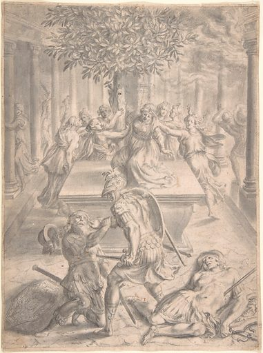 The Sack of Troy: Pyrrhus Killing Priam (before 1654). Accession number: 2002.484.