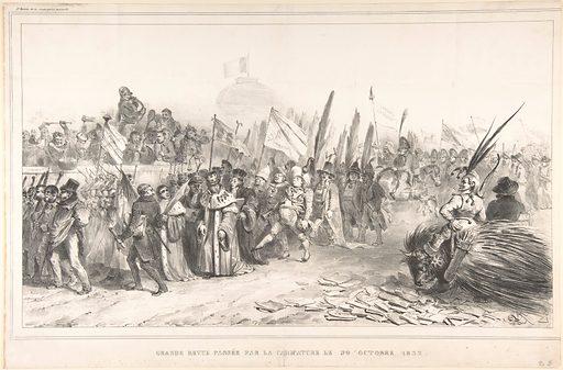 The Grand Review of the Juste-Milieu Passing La Caricature, October 30, 1832 (Grand revue passée par la caricature le 30 Octobre 1832) (October 1832). Accession number: 57.650.622(3).