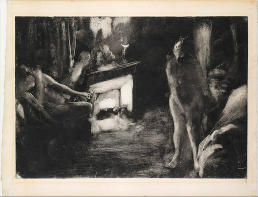 The Fireside (ca. 1876–77). Accession number: 68.670.