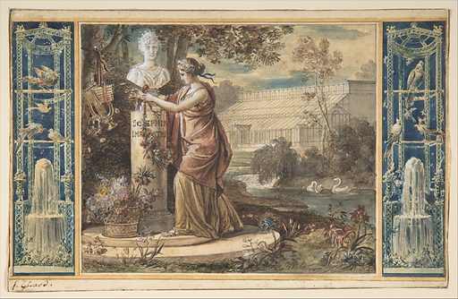 An Allegory of Empress Josephine as Patroness of the Gardens at Malmaison (ca. 1805–6). Accession number: 2003.134.