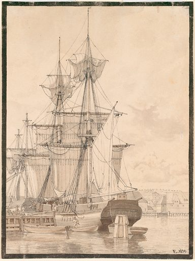 Sailing Vessels at Wilders Plads, Copenhagen (1830). Accession number: 2003.180.
