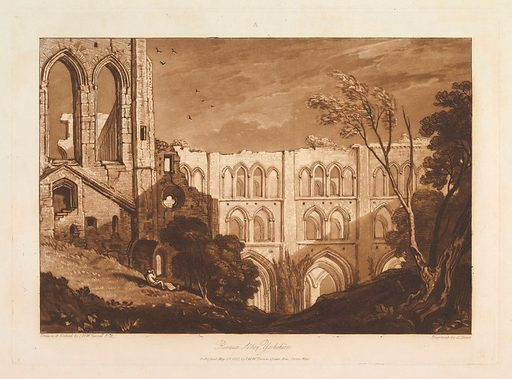 Rivaux Abbey, Yorkshire (Liber Studiorum, part X, plate 51) (May 23, 1812). Accession number: 28.97.51.