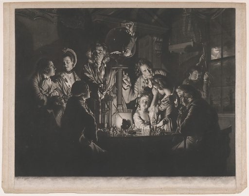 A Philosopher Shewing an Experiment on the Air Pump (1769). Accession number: 49.95.14.