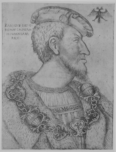 Portrait of the Holy Roman Emperor Charles V facing right (ca. 1520–1540). Accession number: 1993.1001.