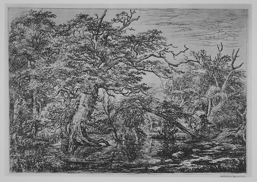A Forest Marsh with Travelers on a Bank (The Travelers) (17th century). Accession number: 26.72.9.