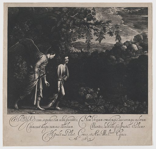 Tobias and the Angel (large plate) (1613). Accession number: 28.82.2.