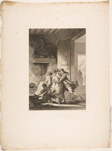 On ne s'avise jamais du tout, from Contes et nouvelles en vers par Jean de La Fontaine.  A Paris, de l'imprimerie de  P. Didot, l'an III de la République, 1795 (1795). Accession number: 33.104.23.