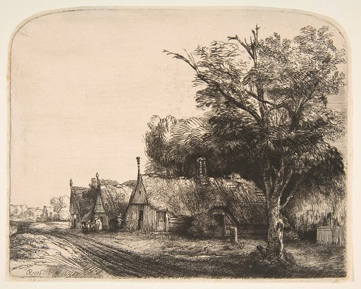Landscape with Three Gabled Cottages Beside a Road (1650). Accession number: 29.107.33.