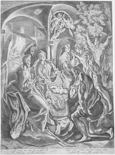 The adoration of the shepherds (1605). Accession number: 1978.545.1.