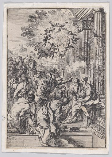 The Adoration of the Magi, set before and architectural colonnade (ca. 1640). Accession number: 46.140.33.