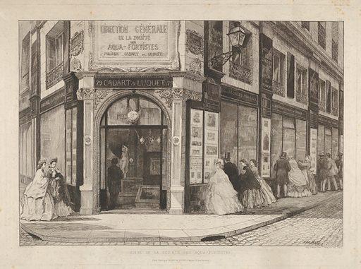 Headquarters of the Société des Aquafortistes (1864). Accession number: 50.616.15.