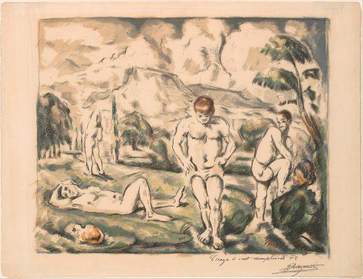 The Large Bathers (Les Baigneurs) (1898). Accession number: 1984.1203.22.
