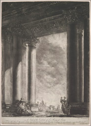A View of the Vestibule of Santa Maria Maggiore at Rome (1765–67). Accession number: 67.797.6.