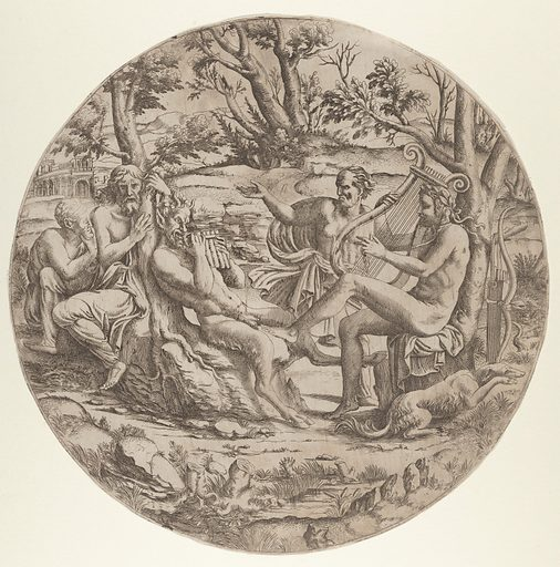 Contest between Apollo and Marsyas (ca. 1543). Accession number: 32.92.1.