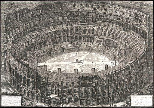 Veduta dell'Anfiteatro Flavio detto il Colosseo, from: 'Vedute di Roma' (Views of Rome). Date: 1776. Accession number: 59570426.