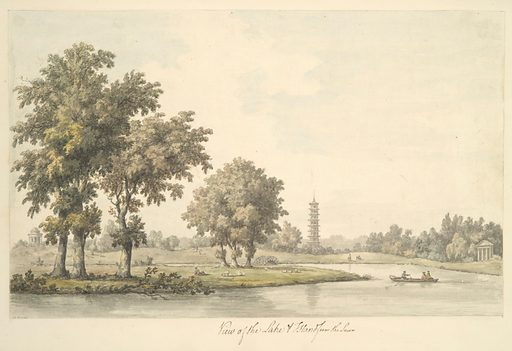 View of the Lake and the Island from the Lawn at Kew (1763). Accession number: 25.19.38.