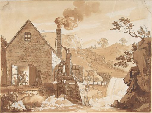 The Iron Forge between Dolgelli and Barmouth, Merioneth Shire (ca. 1776). Accession number: 36.8.32.