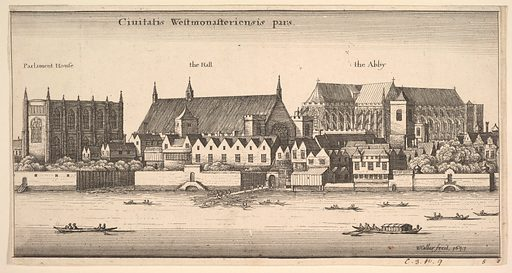 Ciuitatis Westmonasteriensis pars (Westminster from the River) (1647). Accession number: 17.3.1166-652.