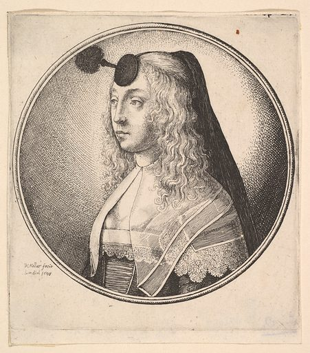 Woman with houpette on forehead turned to left (1643). Accession number: 17.34.8.