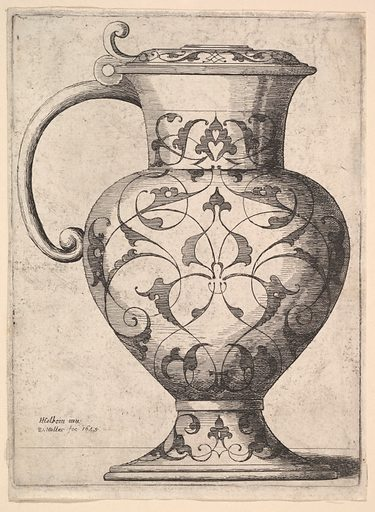 Jug decorated with arabesques (1645). Accession number: 17.46.1.