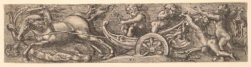 A scallop shell chariot (1654). Accession number: 17.50.15-25.