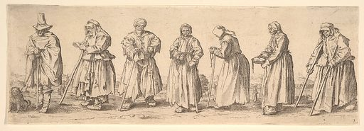Men and women beggars (1630). Accession number: 17.50.15-341.