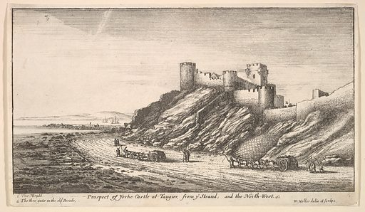 Prospect of Yorke Castle at Tangier, from ye Strand, and the North-West (1669–73). Accession number: 17.50.17-415.