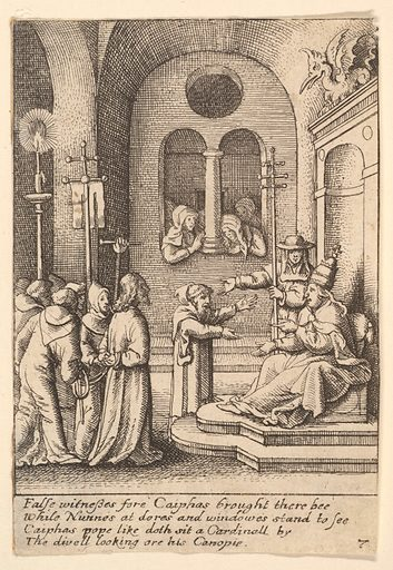 Jesus again before Caiaphas (1625–77). Accession number: 17.50.18-227.