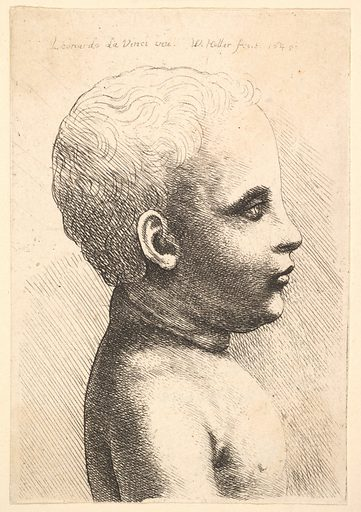 Head and shoulder of a child, in profile to right (1645). Accession number: 17.50.18-108.