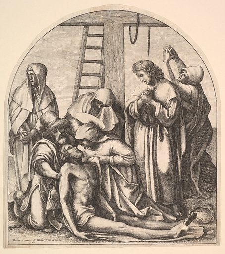Descent from the cross, after Holbein (1640). Accession number: 17.50.18-142.