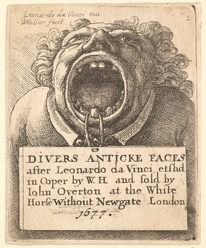 Title Page, Divers Anticke Faces (1677). Accession number: 17.50.18-272.