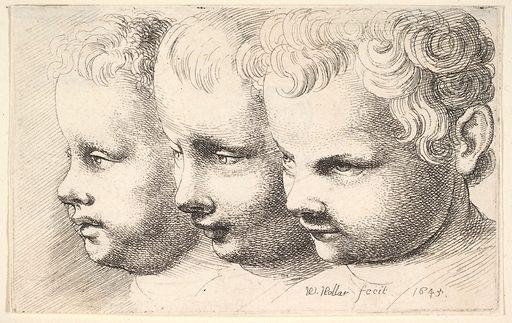 Three children's heads (1645). Accession number: 17.50.18-48.