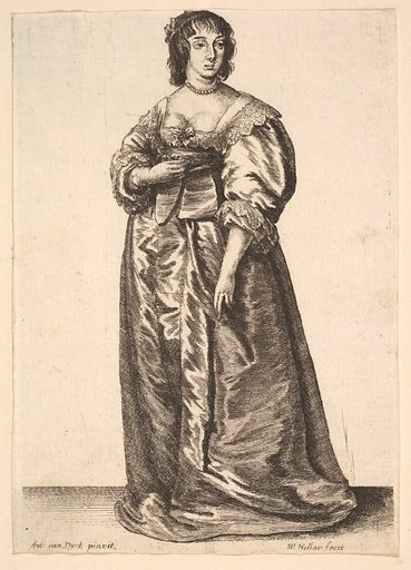 Whole-length lady, after Anthony van Dyck (1625–77). Accession number: 17.50.87.