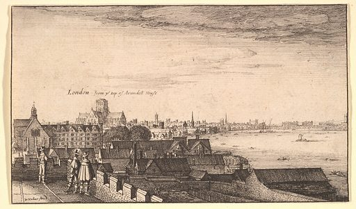 London from Arundel House (1643). Accession number: 20.81.2(1).