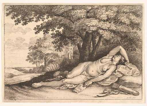 Sleeping Huntress (1625–77). Accession number: 20.81.2(173).