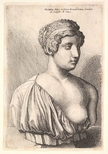 Antique bust of a woman (1645). Accession number: 20.81.2(178).