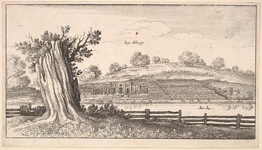 Albury with tree-stump in foreground (1625–77). Accession number: 20.81.2(8).