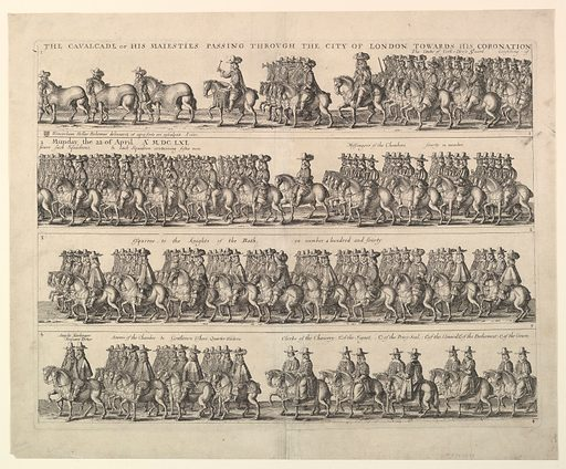 Coronation Procession of Charles II Through London (1662). Accession number: 23.89.4.