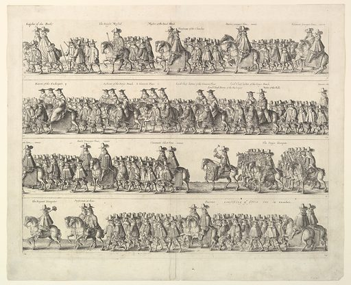 Coronation Procession of Charles II Through London (1662). Accession number: 23.89.6.