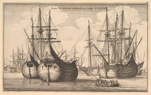 Naues Mercantoriæ Hollandicæ, vulgo VLIETEN (Dutch Freighters or Flutes) (1647). Accession number: 25.83.10.