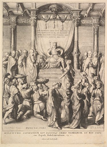 Solomon and the Queen of Sheba (1642). Accession number: 51.501.2143.