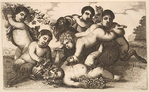 Four boys, two satyrs, and a goat (17th century). Accession number: 51.501.1384.