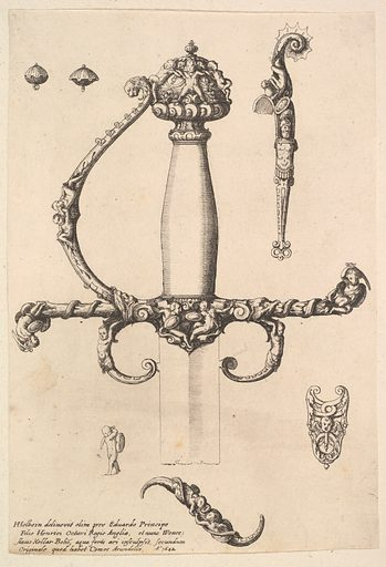 Ornamental sword hilt (1642). Accession number: 51.501.2095.