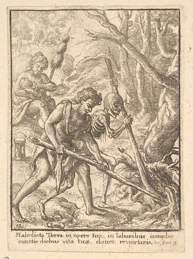Adam Ploughing  from the Dance of Death (1651). Accession number: 51.501.2114.