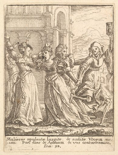 Queen, from the Dance of Death (1651). Accession number: 51.501.2118.