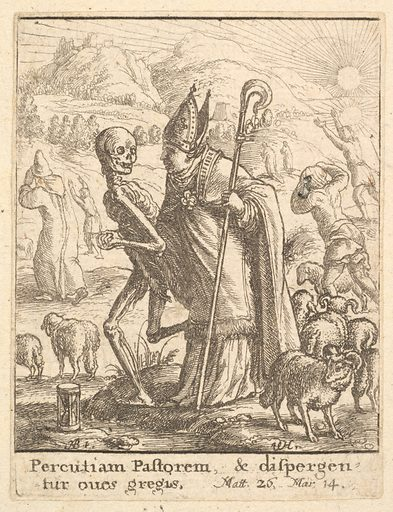 Bishop, from the Dance of Death (1651). Accession number: 51.501.2121.