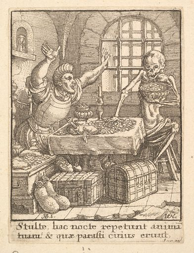 The Miser, from the Dance of Death (1651). Accession number: 51.501.2135.