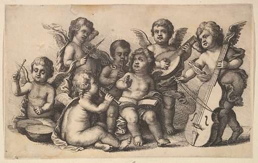 Concert of cherubs on Earth (1625–77). Accession number: 51.501.6717.