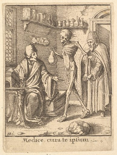 Doctor, from the Dance of Death (1651). Accession number: 51.501.2128.